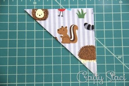 Quick Fabric Corner Bookmarks - Crafty Staci 4