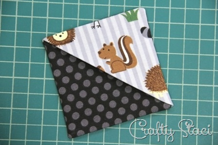 Quick Fabric Corner Bookmarks - Crafty Staci 8