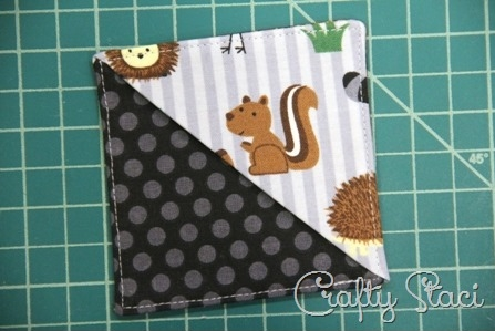 Quick Fabric Corner Bookmarks - Crafty Staci 9