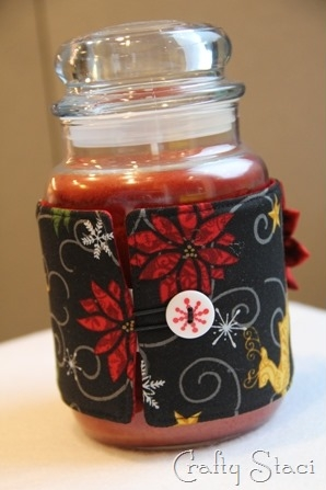 Candle Jar Cozy - Crafty Staci 8