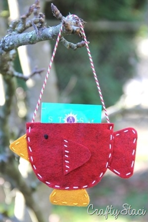 Teacup Bird Gift Card Holder - Crafty Staci 8