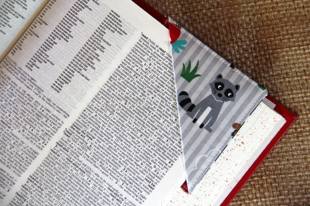 Quick Fabric Corner Bookmarks - Crafty Staci 10