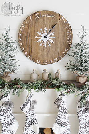 Christmas Clock Advent Calendar from Thrifty and Chic