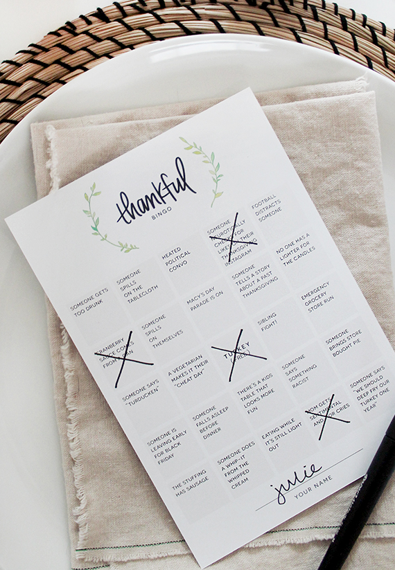 Printable Thankful Bingo from Almost Makes Perfect