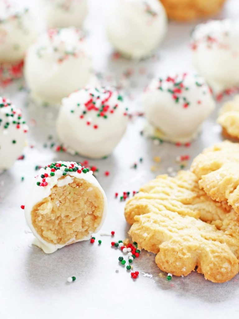 Christmas Sugar Cookie Truffles from If You Give a Blonde a Kitchen