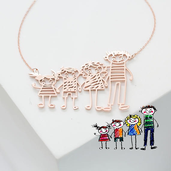 Kid's Drawing Necklace from CaitlynMinimalist