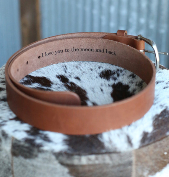 Leather Belt with Secret Message from HoltzLeather