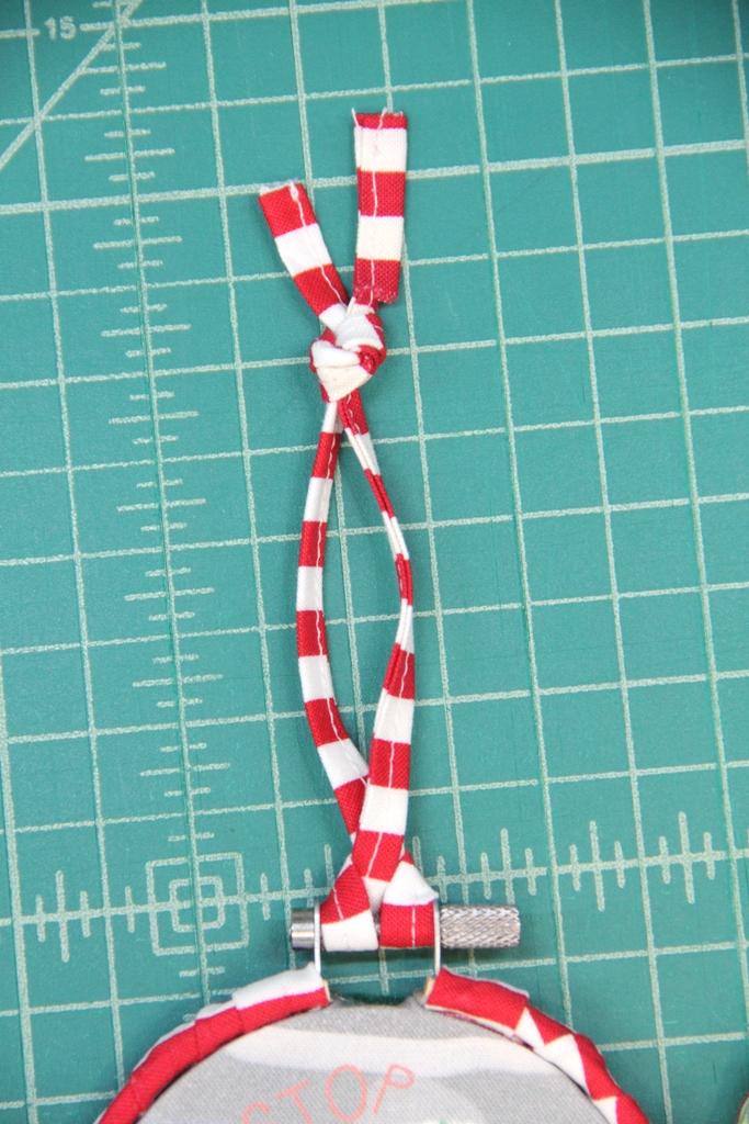 Tie loop for hanging
