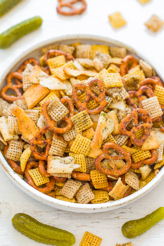 Dill Pickle Chex Mix from Averie Cooks