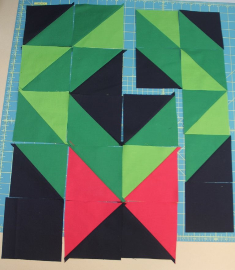 Blocks ready to sew together