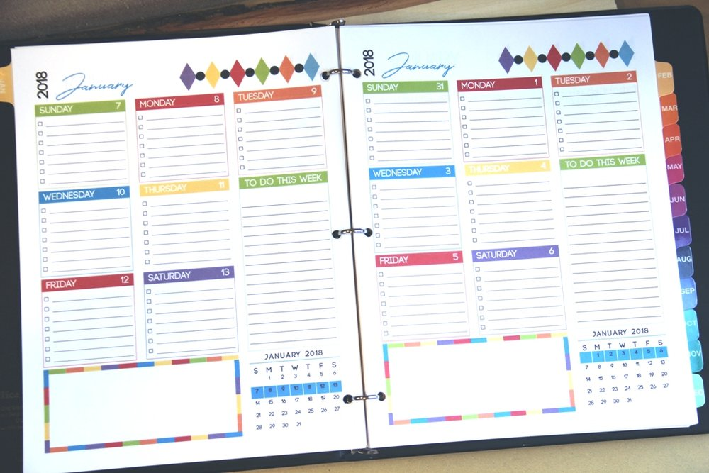 Planner page inside