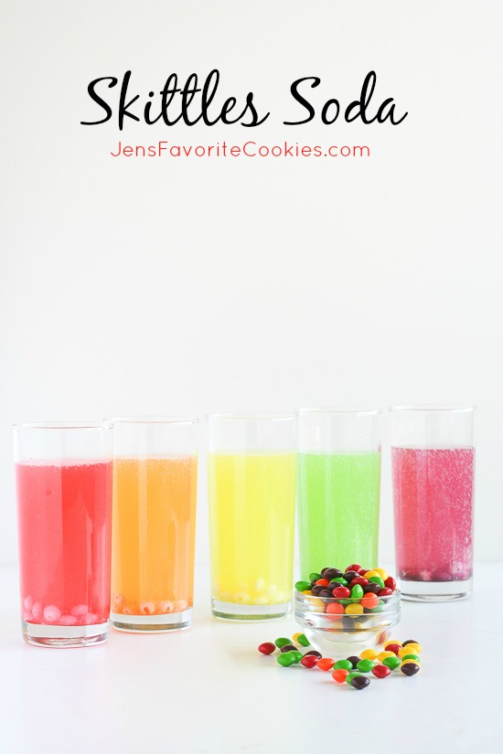 Skittles Soda from Jen's Favorite Cookies