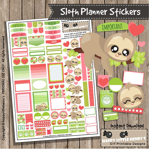 Sloth Planner Stickers from happylittlehenrys.jpg