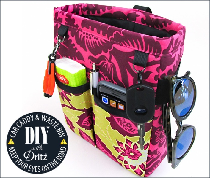 Car Caddy and Waste Bin from Sew4Home