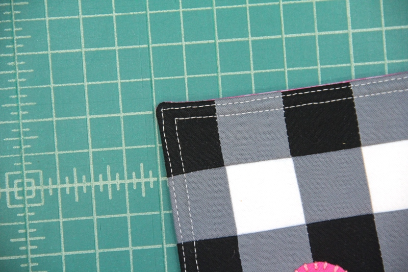 Topstitch near edge