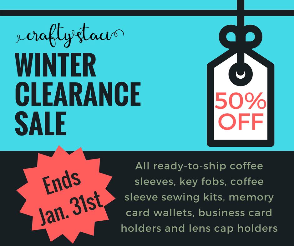 Winter Clearance Sale at craftystaci.com/shop