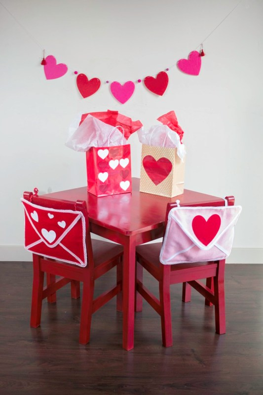 Valentine's Day Envelope Chair Backer from Sweet Red Poppy