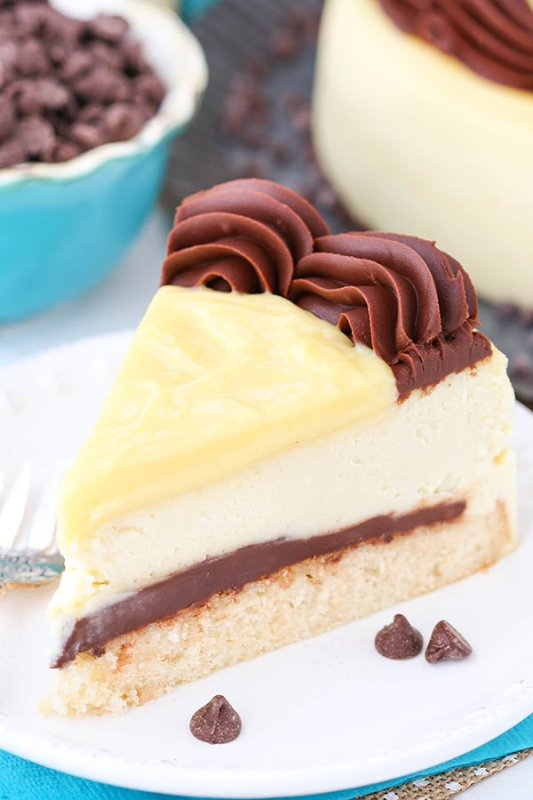 Boston Cream Pie Cheesecake from Live Love and Sugar