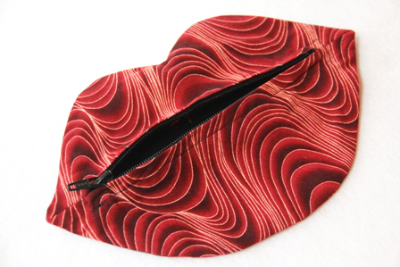 Lip Makeup Bag by Crafty Staci