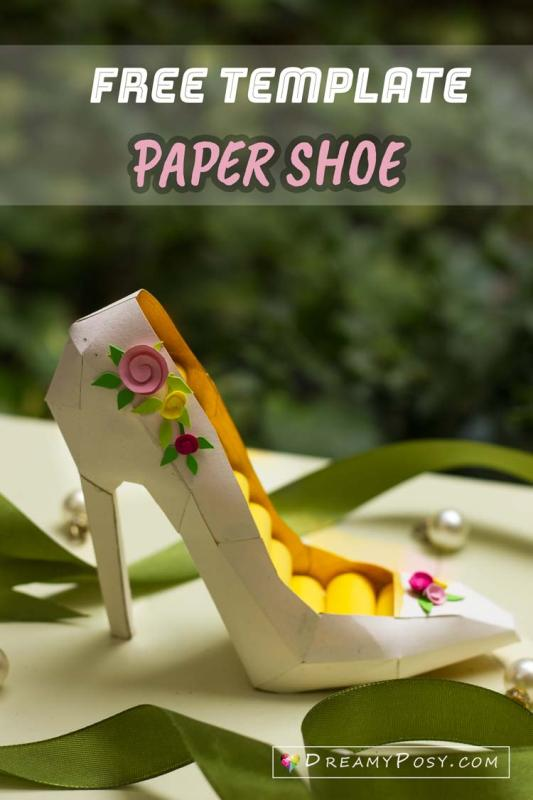 Paper Shoe Template from Dreamy Posy