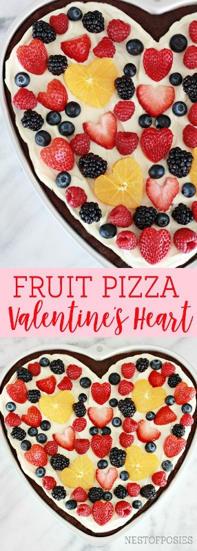 Fruit Pizza Valentine's Heart from Nest of Posies