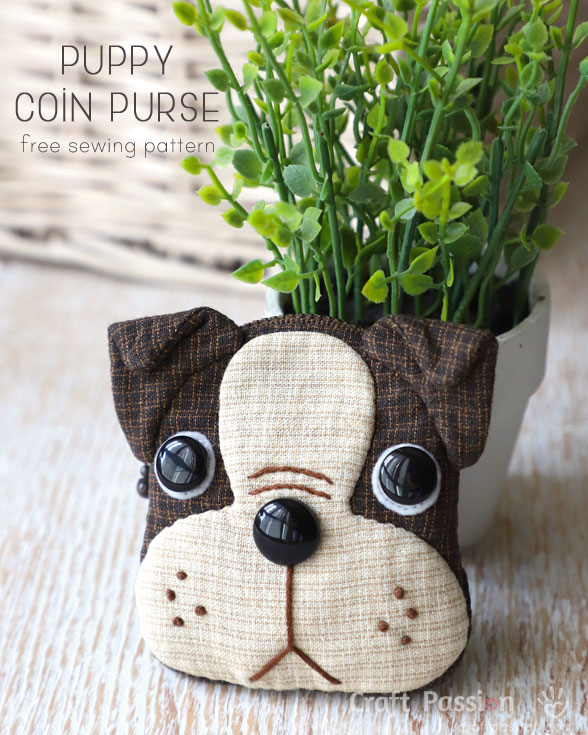 Puppy Coin Purse from Craft Passion