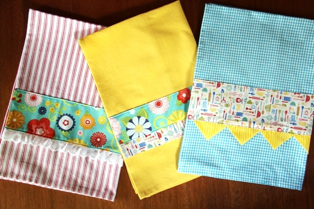 Embellished Kitchen Towels - Crafty Staci 12