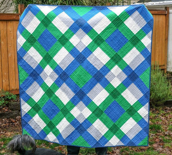 Giant Block Quilt from Kitchen Table Quilting