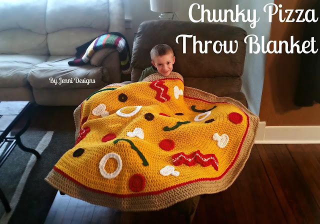 Chunky Pizza Throw Blanket from By Jenni Designs