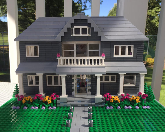 Custom Lego Model Home from LittleBrickLane