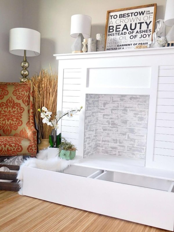 Shiplap Faux Fireplace from Handmade Haven