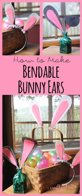 How to make bendable bunny ears from craftystaci.com