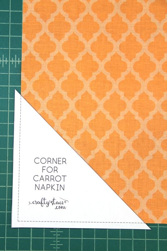 Cutting corner from orange square
