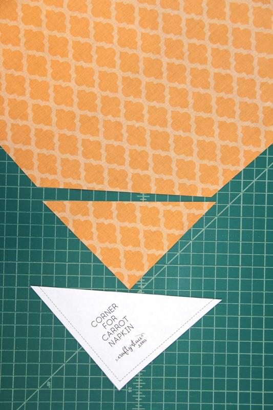 Corner cut off orange square