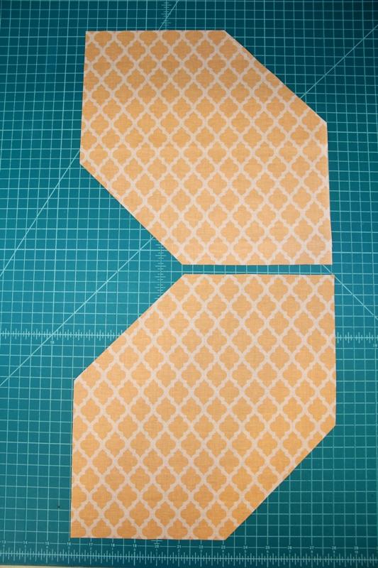 All corners cut off orange squares