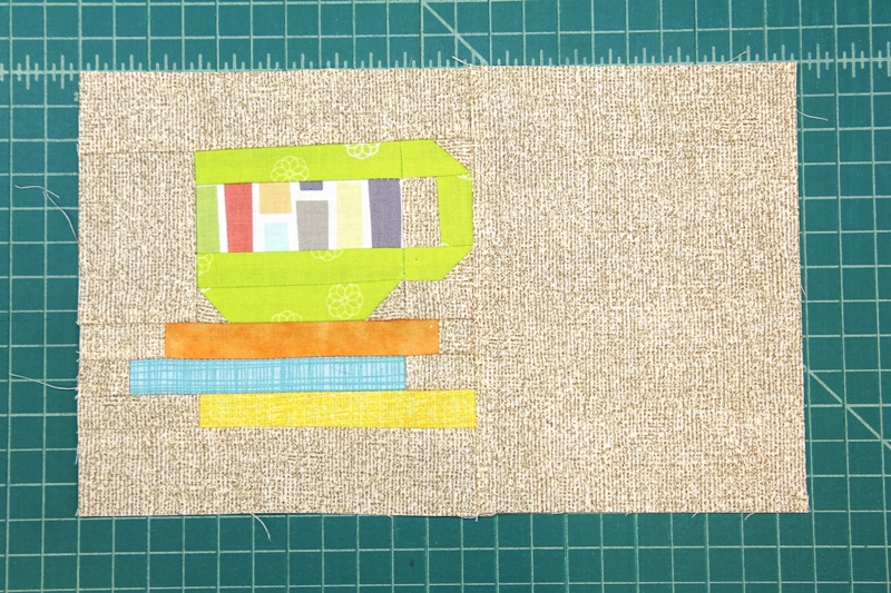 Mug mat top pieced together