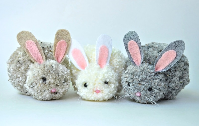 Pom Pom Bunnies from Ikat Bag