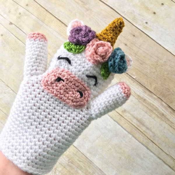 Unicorn Hand Puppet from The Hook Nook Life