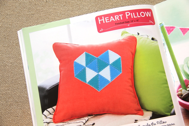 Heart Pillow from Felt for the Home book