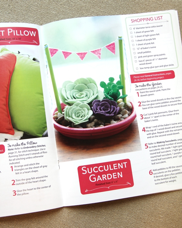 Succulent Garden from Felt for the Home book