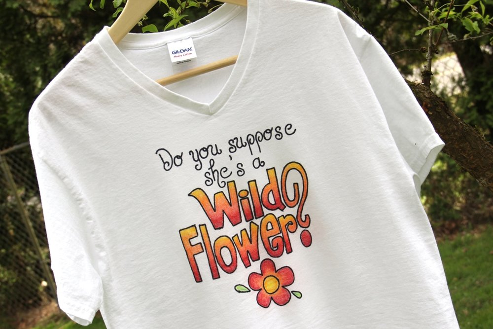 Wild Flower Alice in Wonderland T-Shirt from Crafty Staci