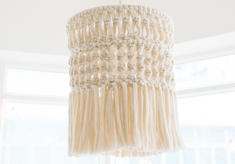 Macrame Chandelier from A Pair and a Spare