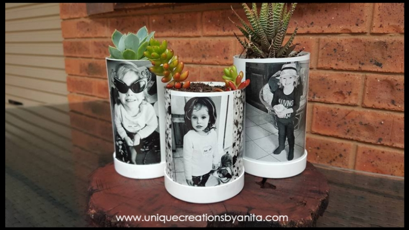 PVC Pipe Photo Planters from Unique Creations by Anita