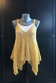 Kanata Kerchief Tank from Jennifer Ozses on Ravelry