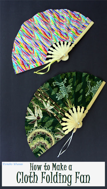 how to make a cloth folding fan from Condo Blues