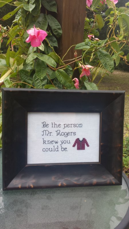 Be the Person Mr. Rogers Knew You Could Be Cross Stitch Pattern from StitchItRealGood on Etsy