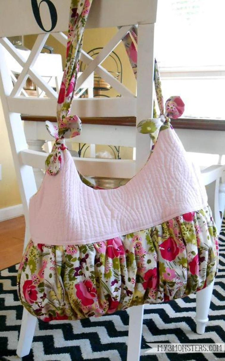 Tied-Handle Tote Bag from My 3 Monsters on Craftsy ($)