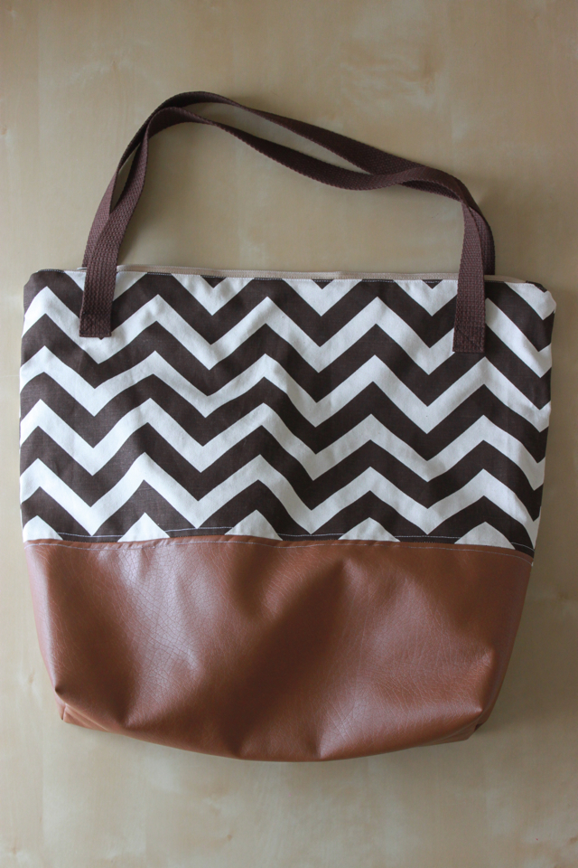 Leather Bottom Tote from See Kate Sew