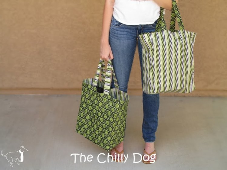 Reversible Shopping Bags from The Chilly Dog
