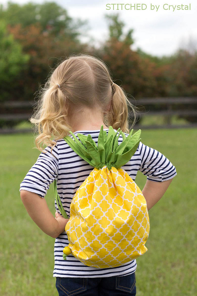 Pineapple Drawstring Backpack from Make It and Love It